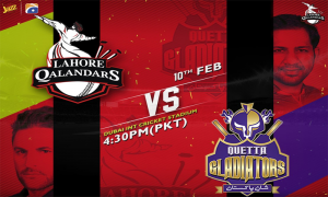 Lahore Qaladers Vs Quetta Gladiators 12 match of PSL 2019, Live Stream