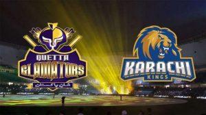 Quetta Gladiators vs Karachi kings psl 4 ,15th match Live Stream/ Live score Prediction