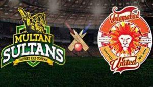 Islamabad United vs Multan sultan Live Score psl 2019
