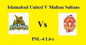 Match 16 feb match Islamabad united vs Multan Sultan/ Live Stream PSL 2019