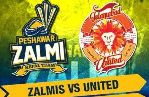Islamabad United vs Peshawar Zalmi Live Stream, Live Score Feb 22, 2019